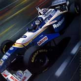 Hill wins the 1996 World Drivers Championship with nine poles and eight wins. Driving the Rothmans Williams FW18 V10