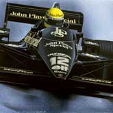 Ayrton Senna wins his first Grand Prix, driving in the iconic John Player Special Lotus 97t with Renault V6 engine at Estoril (Portugal) 1985