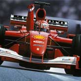 Michael Schumacher drives to his fourth World Drivers Championship title in 2001, winning by a record margin of 58 points including nine race victories. Ferrari Scuderia F2001.